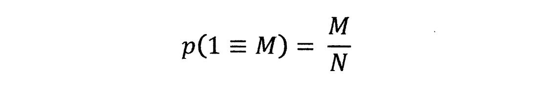 p(1=M)
