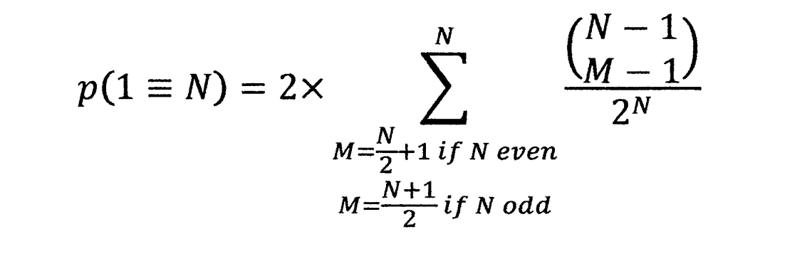 p(1=N) 2