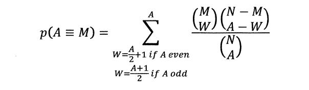 p(A=M)