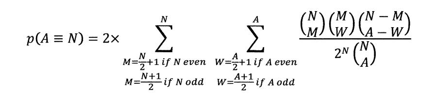 p(A=N) 1