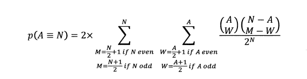 p(A=N) 2