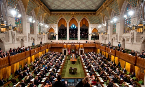 http://o.canada.com/news/google-street-view-hits-the-parliament-building-in-ottawa The chamber of the House of Commons in Ottawa . Photo: THE CANADIAN PRESS/Adrian Wyld